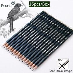 Faber Castel 16 шт./кор. карандаши для школы пастельный HB 2B 2H карандаши для рисования набор Lapiz Профессиональный potloden товары для рукоделия