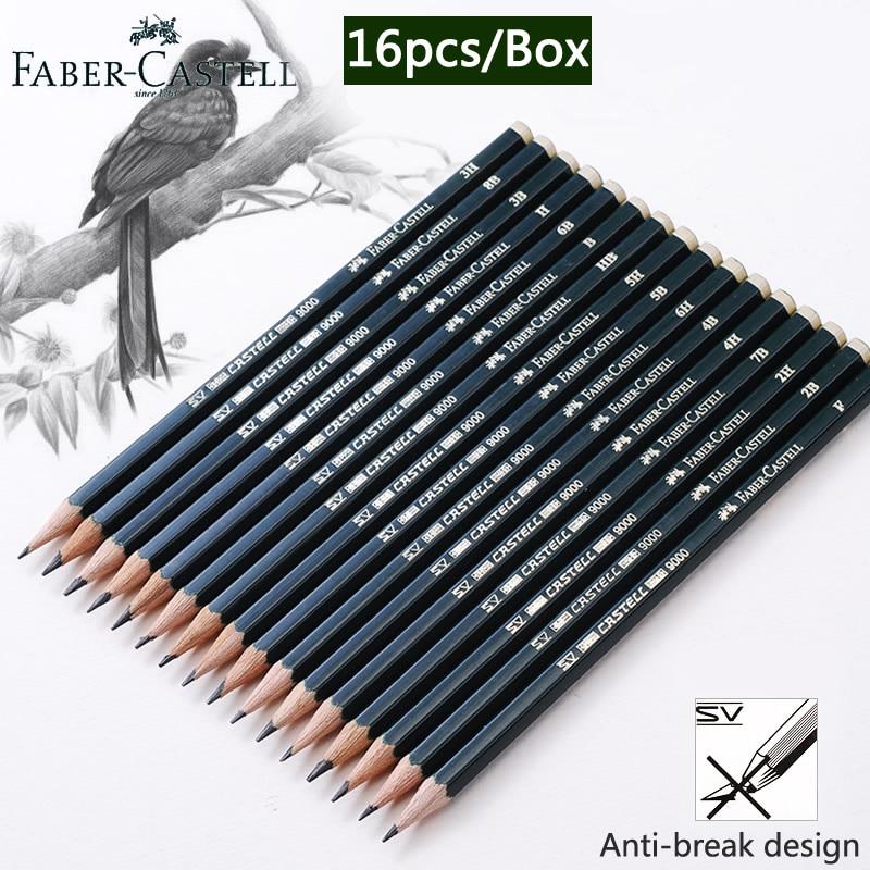 Faber Castel 16pcs/Box Pencils For School Pastel HB 2B 2H Drawing Pencil Set Lapiz Professional Potloden Art Supplies