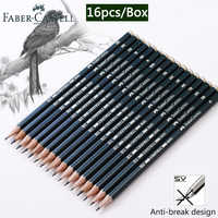 Faber Castel 16pcs/Box Pencils for School Pastel HB 2B 2H Drawing Pencil Set Lapiz Professional Potloden Art Supplies