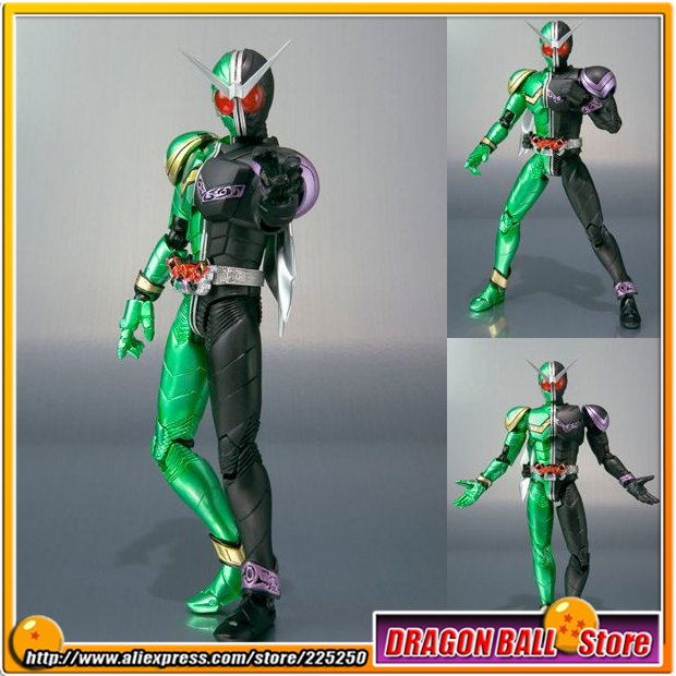 Japan Kamen Masked Rider Double Original BANDAI Tamashii Nations SHF S.H.Figuarts Toy Action Figure - Cyclone Joker / CJ  japan kamen masked rider original bandai tamashii nations shf s h figuarts toy action figure shadow moon ver 1 0