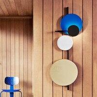 Nordic чердак дизайнер цветной металлический круглый круг светодиодный настенный светильник книги по искусству DIY Планета настенные бра ужин