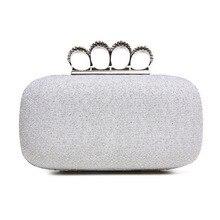 2016 ВЫСОКОЕ Качество Алмазный застежка вечерние сумки модные Сумки Сцепления кошелек блеск золотые клатчи сумка серебряный сумки SH28