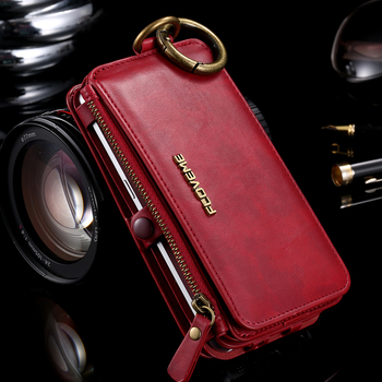 FLOVEME Business Wallet Phone Case For Samsung Galaxy Note 9 8 10 Plus Case Zipper Leather Coque For iPhone XS MAX X Case wallet 5