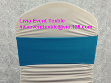 100pcs #33 LIght Turquoise  Spandex Chair Band,Double Layer Lycra Chair  Band For Chair Cover &Wedding Events &Party Decoration