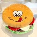 Almofada de Dormir hambúrguer Travesseiro Macio Crianças Hambúrgueres de Alimentos Simulação Boneca de Presente de Aniversário Brinquedos TL0073
