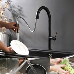 Image 3 - Nowość wyciągnij baterię kuchenną różowe złoto i biel bateria zlewozmywakowa z kranu 360 stopni obrót mikser kuchenny krany kran kuchenny