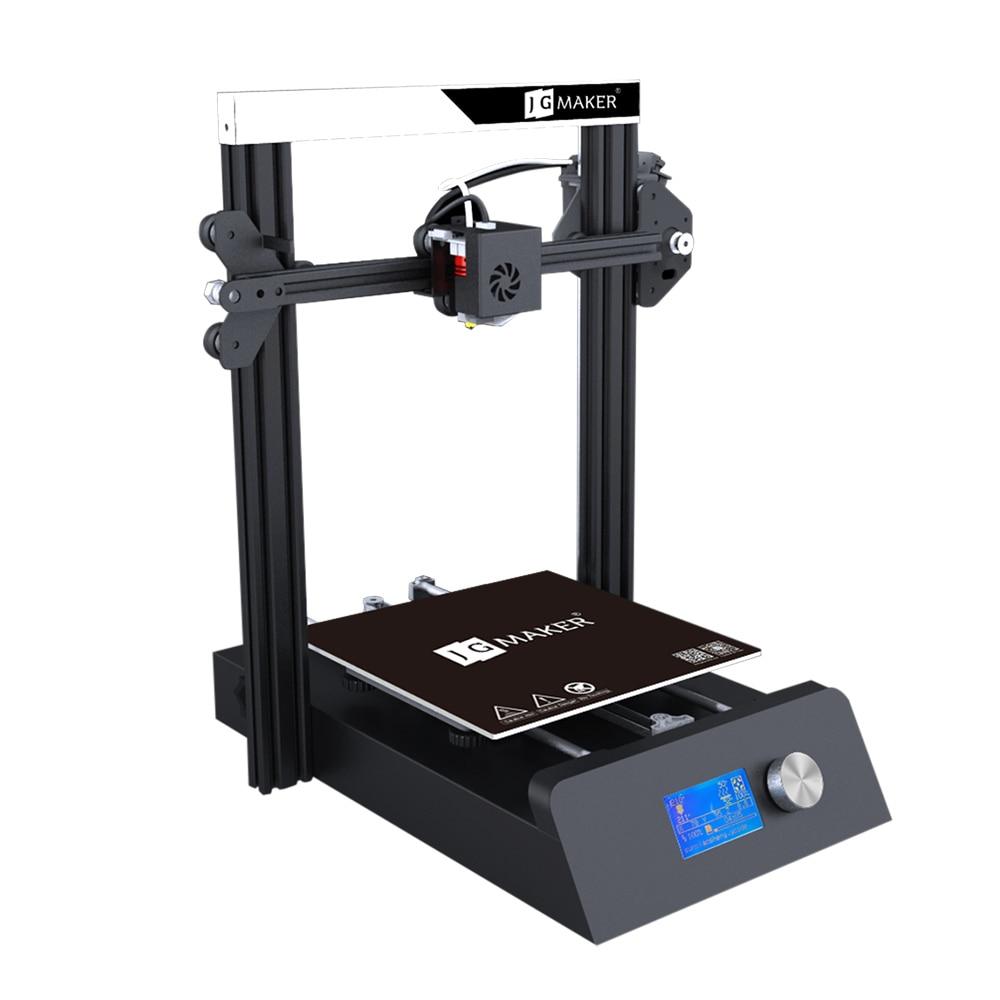 JGAURORA Magic 3D impresora de una sola boquilla LCD pantalla rota material de detección base de metal Semi DIY diseño rodamiento de bolas - 4