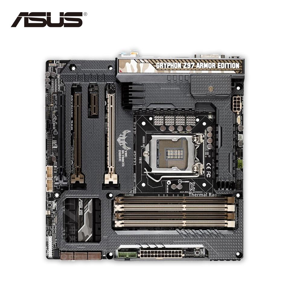 Asus GRYPHON Z97 ARMOR EDITION Original New Desktop Motherboard Z97 Socket LGA 1150 i7 i5 i3 DDR3 Micro-ATX asus z97 a