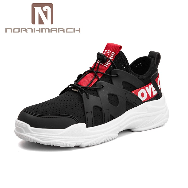 NORTHMARCH Shoes Men 2018 Spring Autumn Sneakers Men Breathable Mesh Lace-Up Outdoor Mens Shoes Casual Footwear Sapato Masculino spring summer casual mesh shoes lovers flat shoes lace up breathable footwear female vintage sneaker trainers sapatos masculino