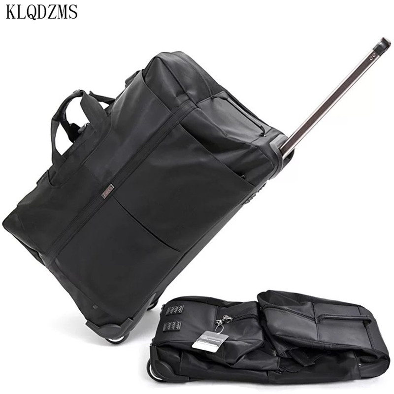 KLQDZMS 24/28/32inch Rolling Luggage Fashion Travel Bags On Wheel Large-capacity Outdoor Trolley Suitcase Waterproof Oxford