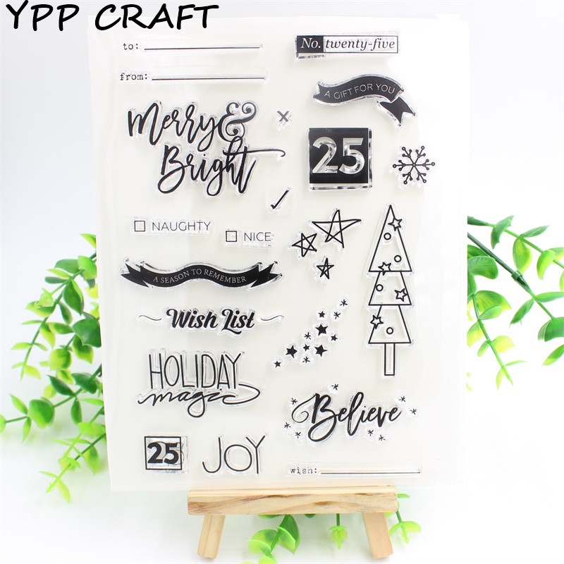 YPP CRAFT Wish List Transparent Clear Silicone Stamp/Seal for DIY scrapbooking/photo album Decorative clear stamp sheets about lovely baby design transparent clear silicone stamp seal for diy scrapbooking photo album clear stamp paper craft cl 052