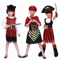 Hot Halloween costumi pirata vestiti per uomini e donne Pirati dei caraibi Jack Capitano pirata stile di abbigliamento per bambini
