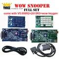WOW SNOOPER único NEC relés de duas placas opcionais V5.008 R2 + 2015 R3 + wow keygen com/sem bluetooth ferramenta de diagnóstico tcs cdp