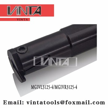 Free shipping  MGIVL3125-4/MGIVR3125-4  Internal grooving and turning tool holder matched insert MGMN400-M