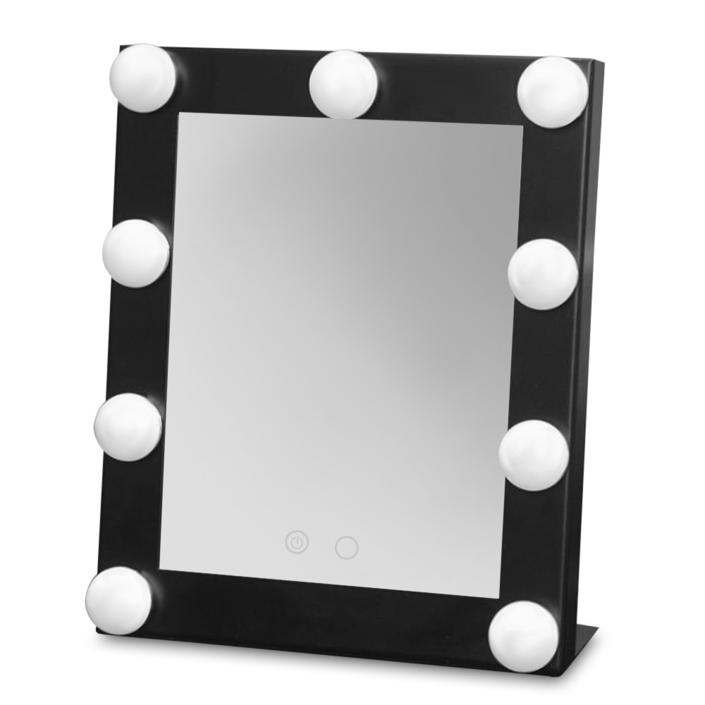 High Quality Make Up Mirror Stainless Steel Framed Mirror Cosmetic Mirror with 9 bulb Lights Makeup Tool for Women Ladies Gift стоимость