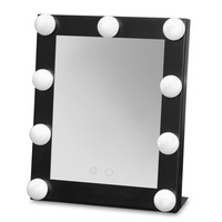 High Quality Make Up Mirror Stainless Steel Framed Mirror Cosmetic Mirror with 9 bulb Lights Makeup Tool for Women Ladies Gift