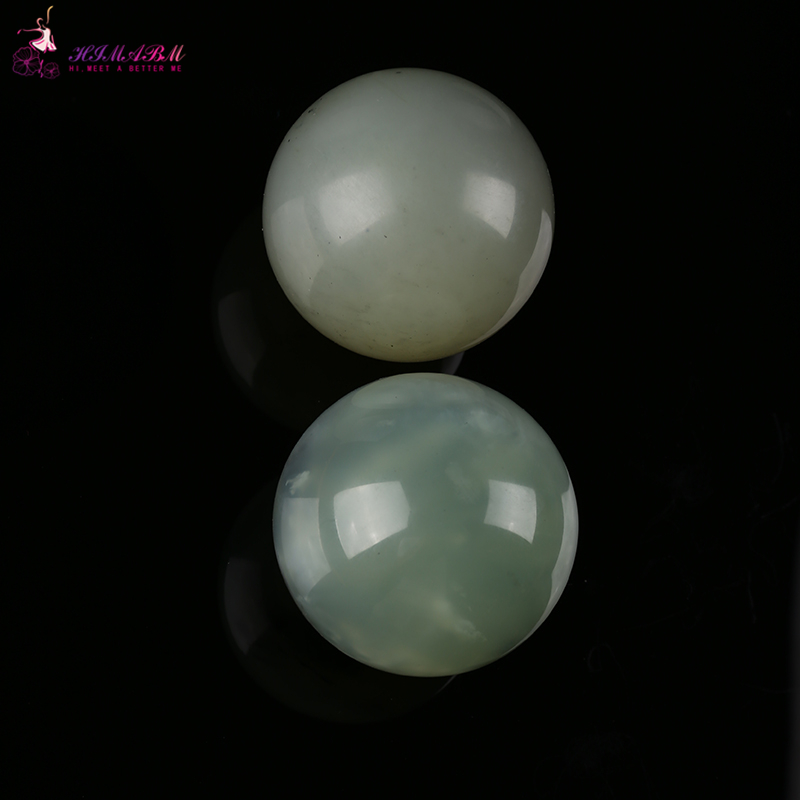 HIMABM 50mm Natural jade Hand Massage Ball Natural Healthy Care Massaging Stone Healing Sphere Exercise Ball SPA Tools Fitnes