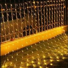 AC 220V Наружная 1 м X 10 м Рождественская елка праздничный Парк Отель улица вечерние сказочные садовые гирлянды светодиодные чистые огни свадебные украшения