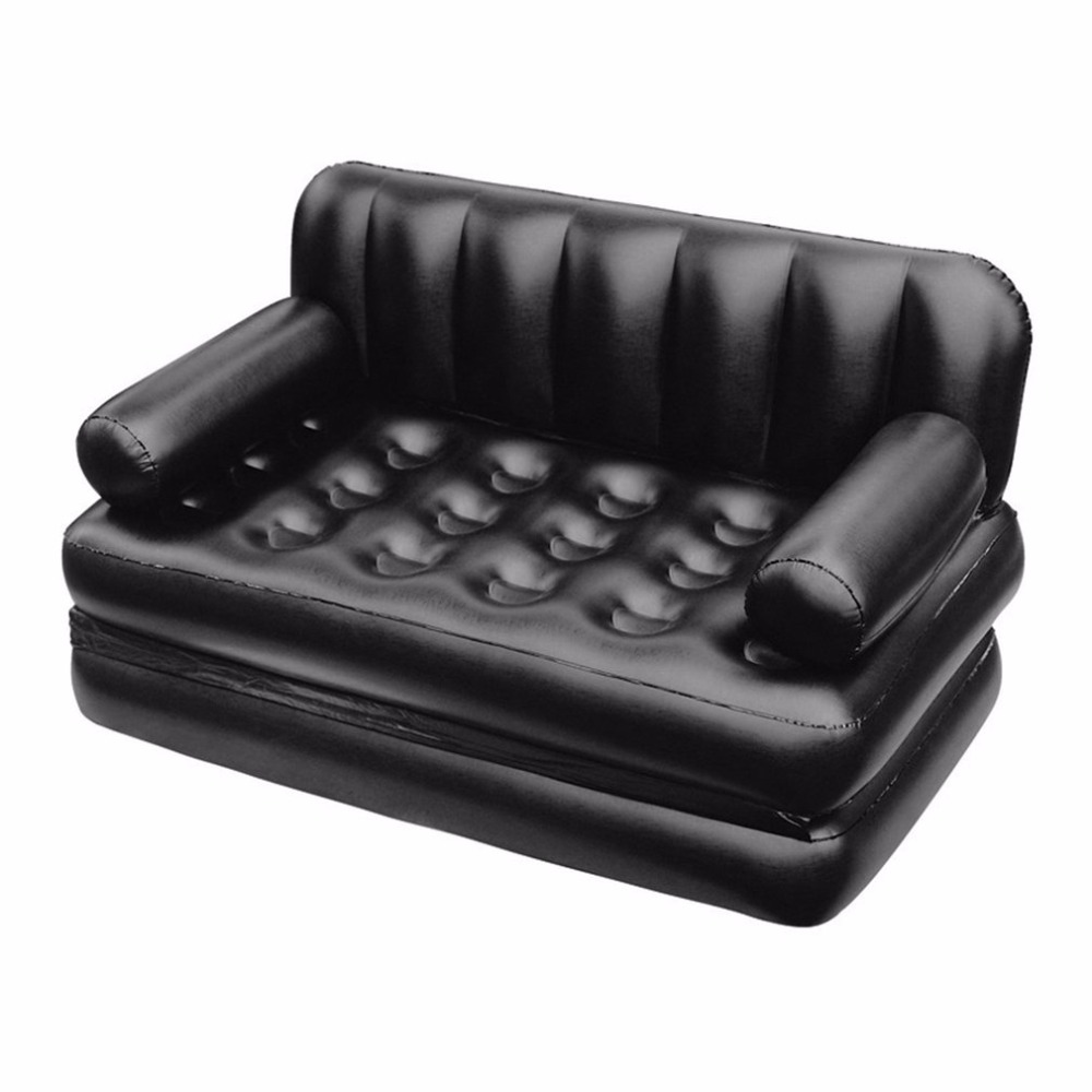 Inflatable Double Sofa Air Cushion Folding Bed Couch Blow