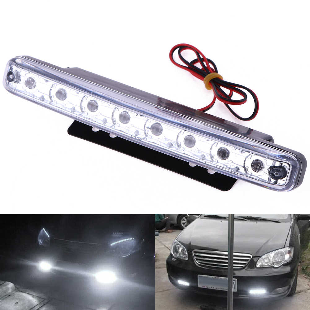 12V DRL Lamp Led Bar Off Road Auto Car Motorcycle Universal IP65 Waterproof 8LED Daytime Running Light