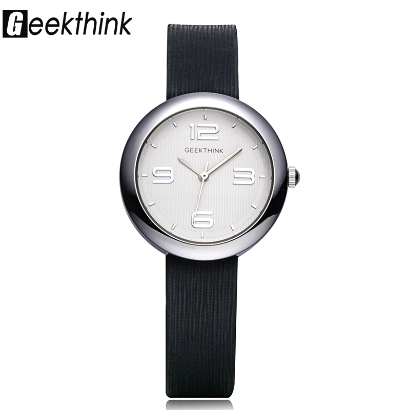 GEEKTHINK Fashion Quartz Watches Women Luxury Brand Ladies Simple Casual Leather strap Wristwatch Girl Clock Female & Gift Box kimio new fashion leather strap women quartz casual bracelet watch clock female ladies girl dress wristwatch relogio and box