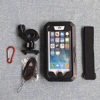 Motocicleta da Bicicleta da bicicleta do Guiador Montagem para iphone 5S SE 6 6 S 7 8 plus Caso Difícil Caso Suporte Do Telefone de Bicicleta À Prova D' Água para o iphone X