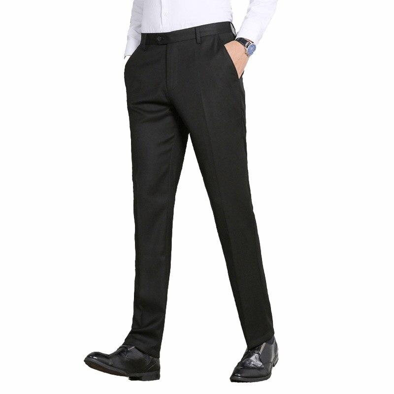 2019 Frühling Winter Herren Formale Hosen Clasic Business Kleid Büro Hosen Für Männer Warme Dünne Klage Hosen Männer Pantaloni Tuta Uomo