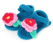 1 пара новый милый творческий мягкие мальчиков девушки цветы цвета ручного вязания малыша обувь детская кроватка обувь 11 см