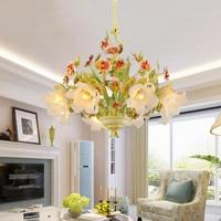 Edison бар висит подвесной светильник цветок Стекло тени, Ресторан Cafe Hotel девочек Гостиная освещения дома Deacoration