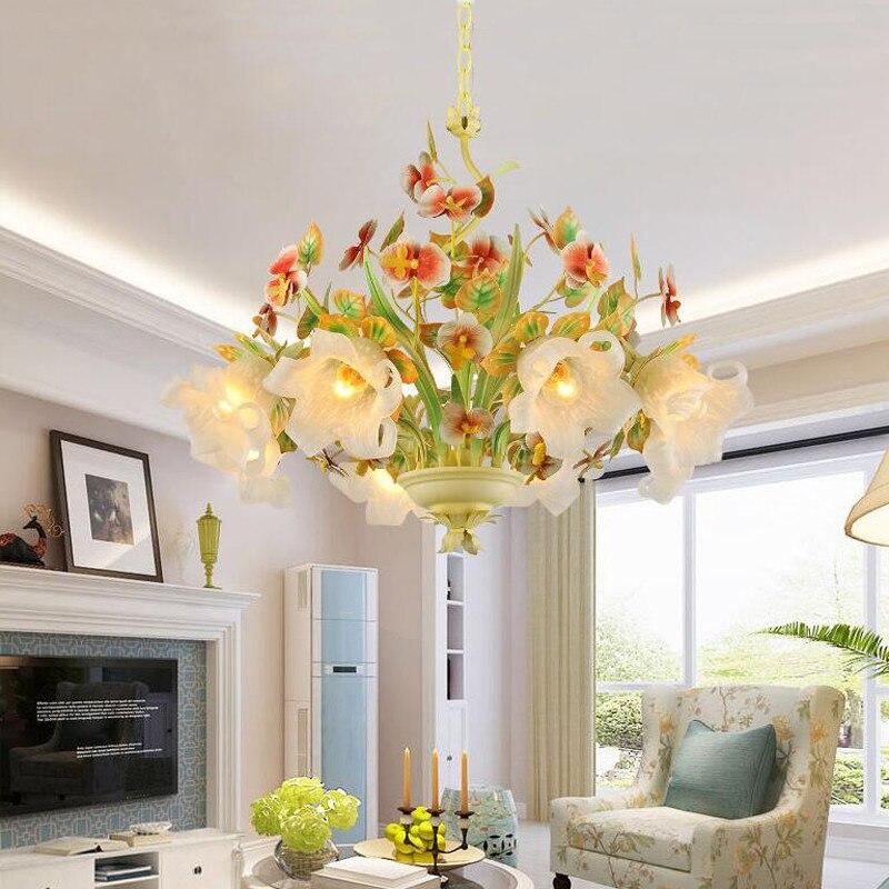 Edison Bar Hanging Pendant Light Fixture Flower Glass Shade,Restaurant Cafe Hotel Girls Living Room Lighting Home Deacoration