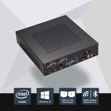 8 ГБ Ram 120 ГБ SSD 2016 Новый Celeron j1900 mini pc quad core безвентиляторный pc с VGA HDMI поддержка windows 10/windows 7/Linux/Ubuntu