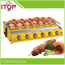 ITOP 6 Burners BBQ Grill Commercial Smokeless Outdoor Barbecue Stove Infrared 2800Pa Easy Cleaned Machine