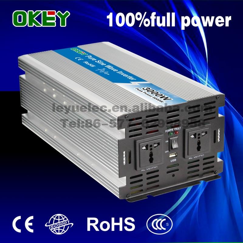 3000W Pure Sine Wave Solar Inverter DC to AC Power Inverters Converters 12V 24V 48V 220V 230V 240V