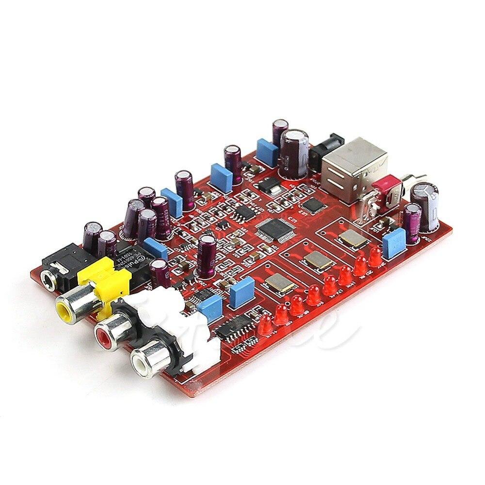 XMOS PCM5102 TDA1308 USB decoder board USB in Coaxial RCA headphone output