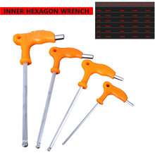2.5/3/4/5/6/8mm High-carbon Steel Inner Hexagon Wrench T Handle allen Hex Key Spanner Hand Tool
