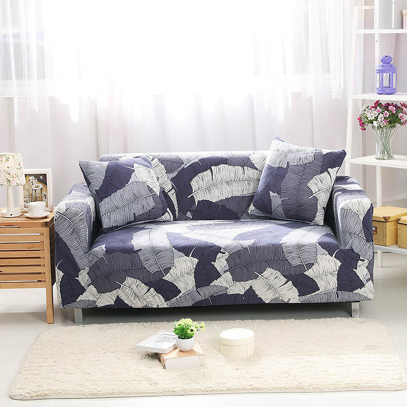 Spandex Slipcovers Elastic Sofa Covers Flower Printing Soft Protector Corner Single Two Three Four Seater