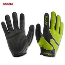 Велосипедные перчатки BOODUN Для мужчин Для женщин MTB дороги велосипед перчатки Сенсорный экран полный палец Спортивные Перчатки для фитнеса перчатки и варежки