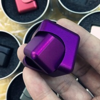 Metal Fidget Cube Spinner Stress Relieving Spinning Cube 2 In 1 Spin Cubo Anti Stress Finger