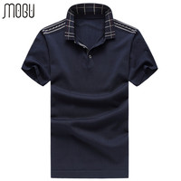 MOGU Short Sleeve Men S Polo Shirt Solid Casual Polos 2017 Summer New Fashion Pure Color