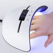 Nail Dryer 36W UV Led Lamp Micro USB LCD Display Automatic Sensor Nail Dryers 3 Timed Curing All Gel Nails Polish Within 30S(China)