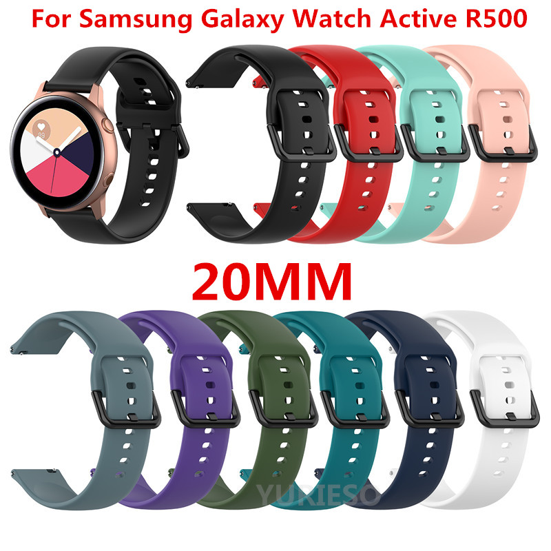 100PCS 20mm L S size Replacement Sports Soft Silicone Watch Band Wrist Strap for Samsung Galaxy