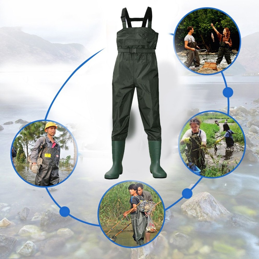 Camouflage Fishing Waders Tactical rain boots Waterproof Stocking Foot Breathable Chest Wader For Outdoor Hunting Fly Fishing