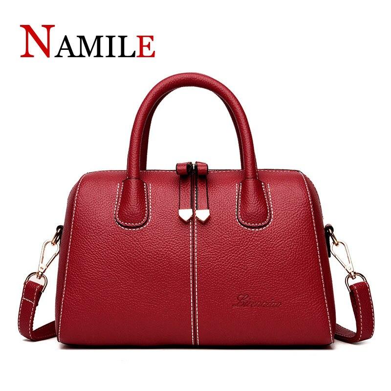 Fashion lady quality handbag shoulder bag high quality designer luxury brand Boston messenger bag lychee pattern handbag