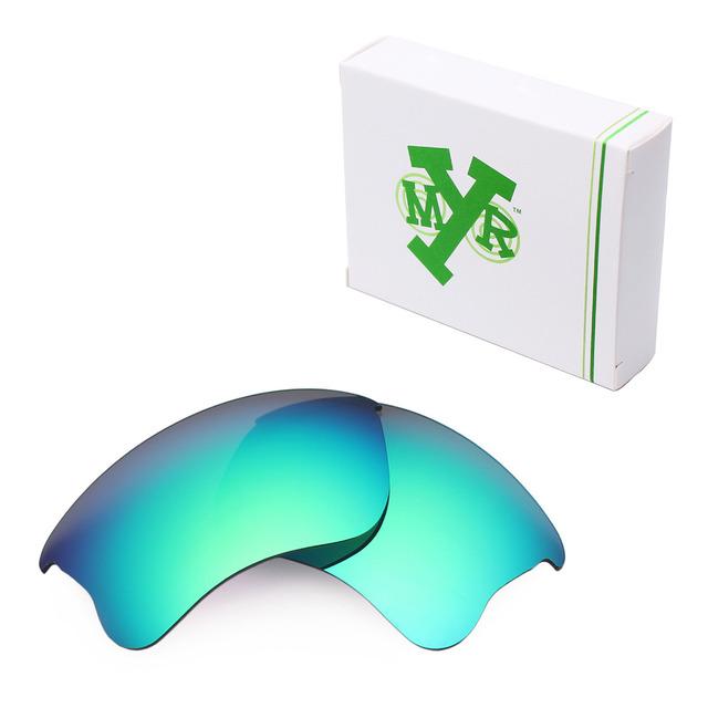 MRY POLARIZADA Lentes de Reposição para óculos Oakley Flak Jacket Sunglasses xlj Verde Esmeralda