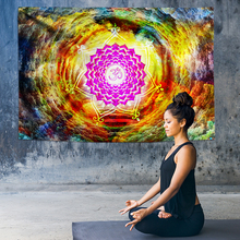 Indian Mandala Tapestry Ombre Chakra Rainbow Tree Hole Decoration Psychedelic Wall Hanging Boho Decor Rug