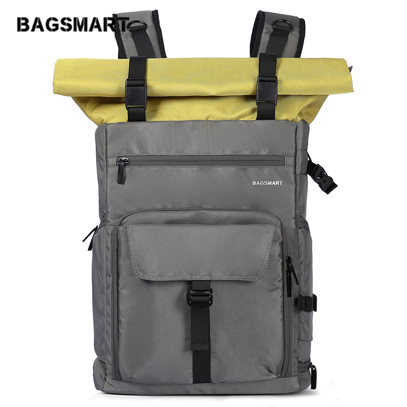 BAGSMART Camera Backpack Professional DSLR SLR Camera Bag Fit Up To 200-400mm Lens,15.6inch Laptop,DJI Mavic Pro With Waterproof
