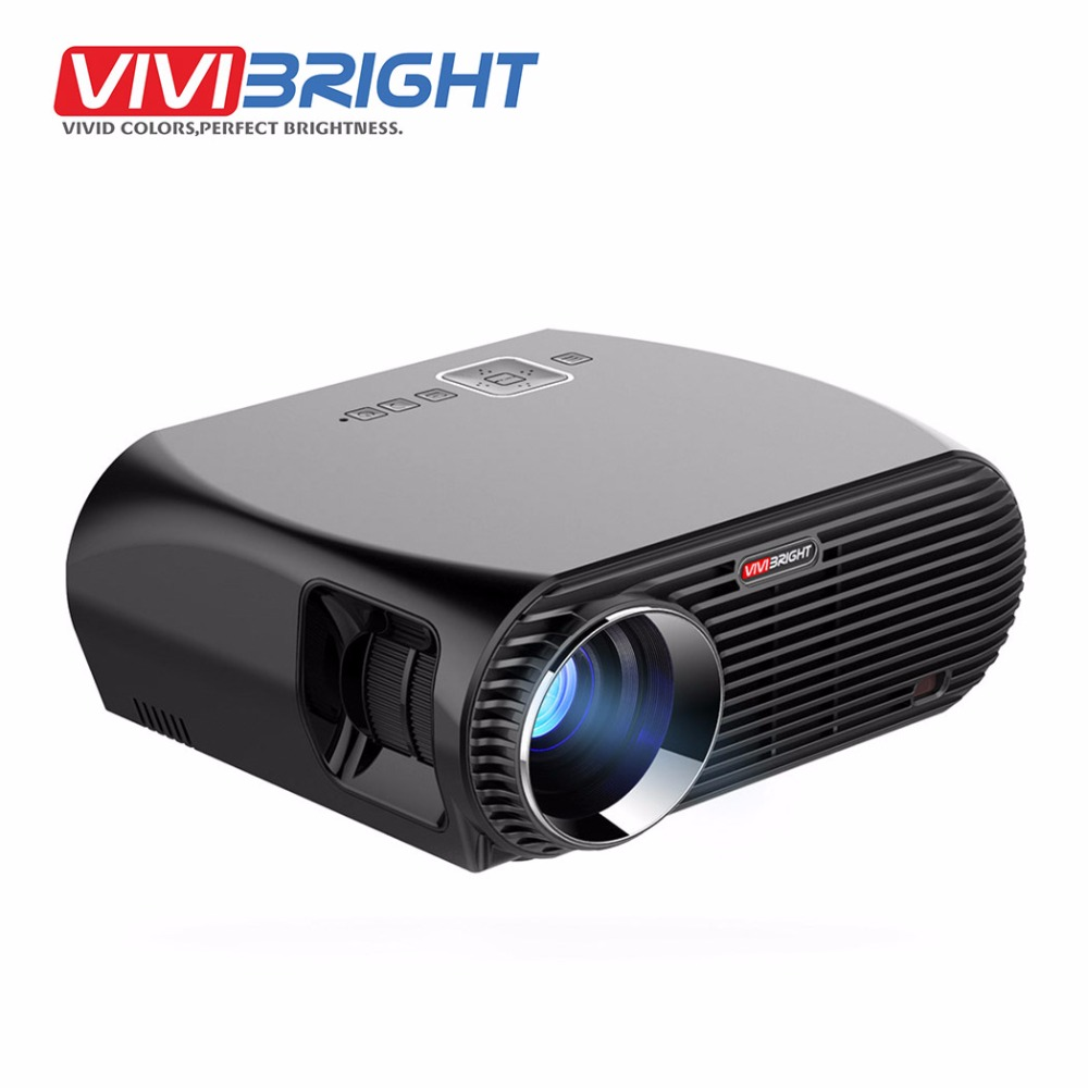 VIVIBRIGHT Android 6.0.1 LED Projector GP100 UP. 1280x800 Resolution 3200 Lumens Built-in WIFI Bluetooth, DLAN Miracast Airplay aun projector 3200 lumen t90 1280 768 optional android projector with 2 4g air mouse bluetooth wifi support kodi ac3 led tv