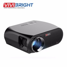 6.0.1 Android LED Proyector de VIVIBRIGHT GP100 ARRIBA. 1280×800 Resolución 3200 Lúmenes WIFI Incorporado Bluetooth, Miracast DLAN Alirplay