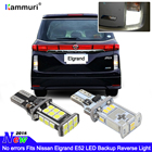KAMMURI Error Free W16W T15 LED Bulbs Fits Nissan Elgrand E52 Bright White Xenon T15 LED Globe Backup Reverse Light