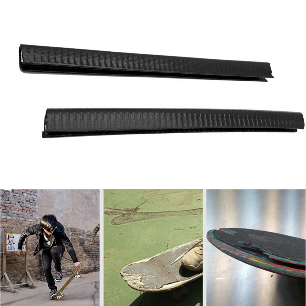 2Pcs/pack Elastic U Shape Rubber Protect Deck Guard Fashion Skateboard Bumper Longboard Anti Collision Strip Scratchproof Sports